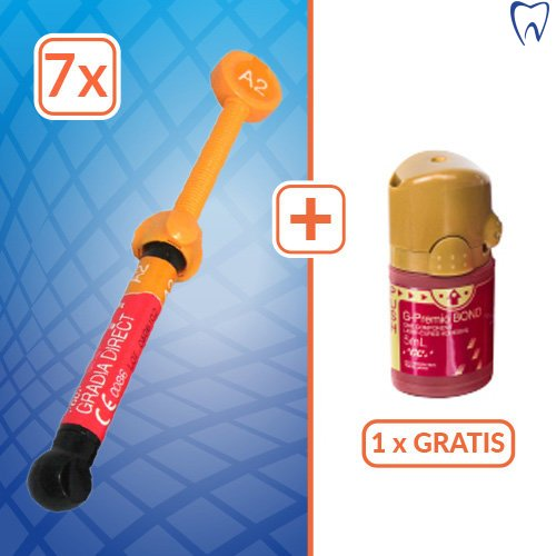 7x Gradia Direct 4g +G-Premio Bond 5ml GRATIS ! NOWA